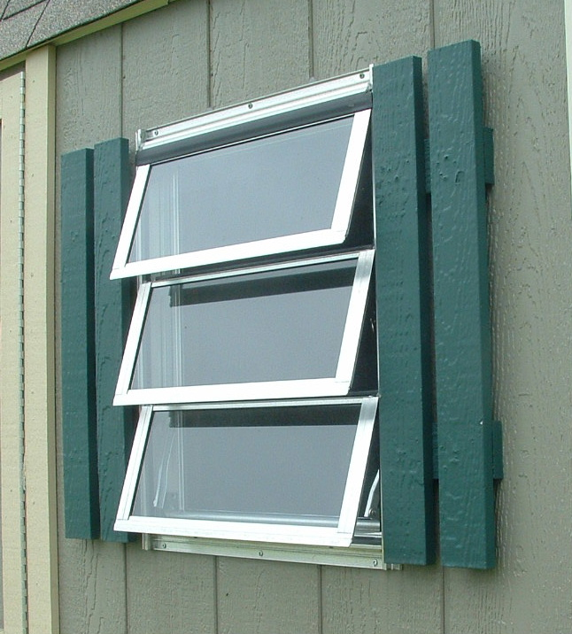 Awning Windows Shed